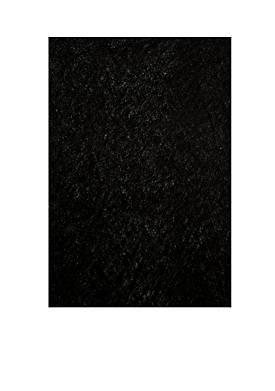 Luster Shag Solid Black Area Rug 3 x 5