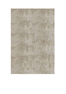Luster Shag Solid Champagne Area Rug 3 x 5