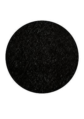Luster Shag Solid Black Area Rug 4 Round