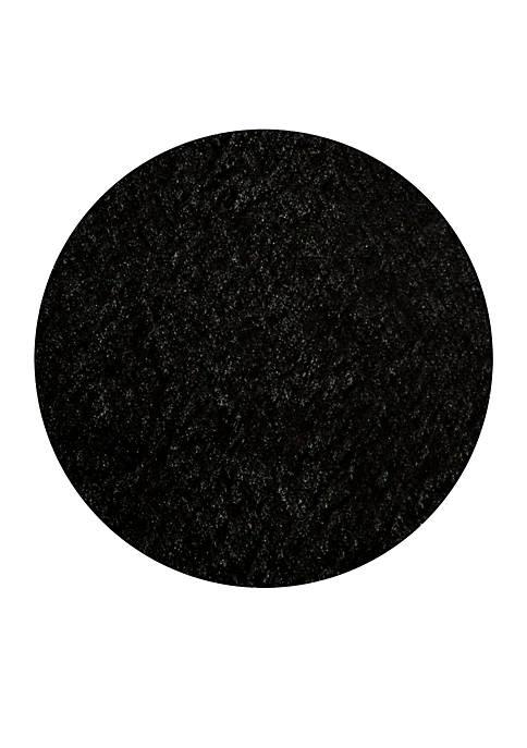 Momeni Luster Shag Solid Black Area Rug 4