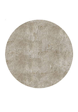 Luster Shag Solid Champagne Area Rug 4 Round