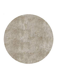 Luster Shag Solid Champagne Area Rug 4' Round