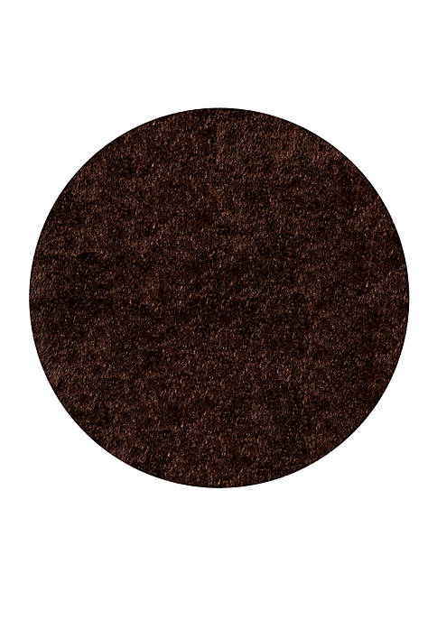Momeni Luster Shag Solid Brown Area Rug 4