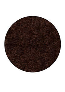 Luster Shag Solid Brown Area Rug