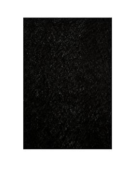 Luster Shag Solid Black Area Rug 5 x 7