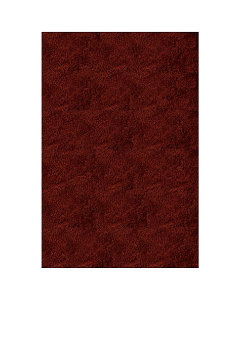 Luster Shag Solid Brick Area Rug 5 x 7