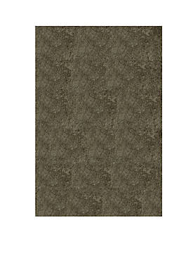 Luster Shag Solid Gray Area Rug 5 x 7