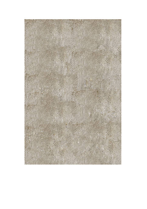 """Luster Shag Solid Champagne Area Rug 23"""" x 8"""