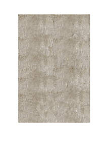 Luster Shag Solid Champagne Area Rug