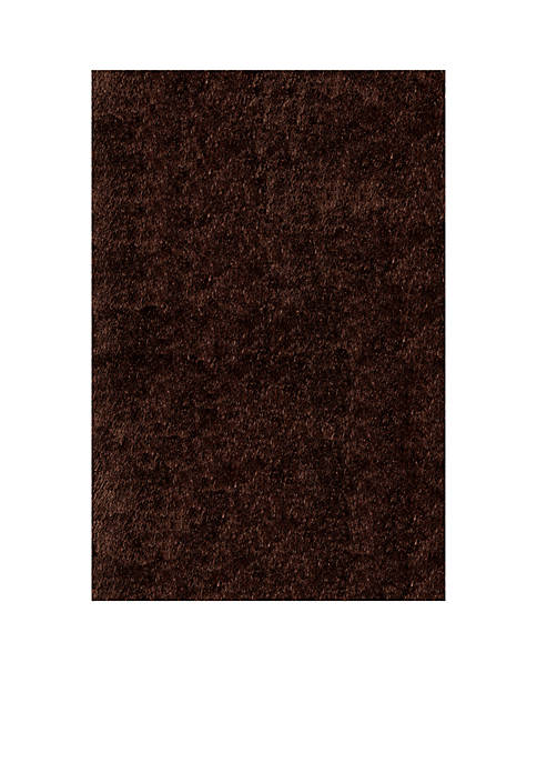 Momeni Luster Shag Solid Brown Area Rug 23""