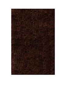 Momeni Luster Shag Solid Brown Area Rug 2'3
