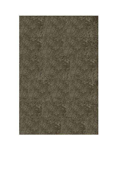 "Momeni Luster Shag Solid Gray Area Rug 23"""