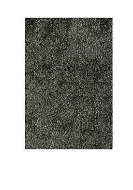 Luster Shag Solid Carbon Area Rug 2 x 3