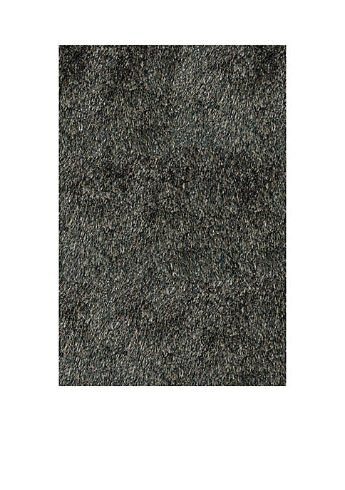 Momeni Luster Shag Solid Carbon Area Rug 23""
