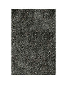 Luster Shag Solid Carbon Area Rug 2'3\