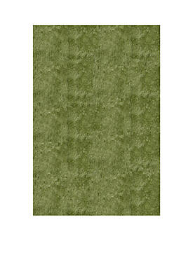 "Luster Shag Solid Apple Green Area Rug 23"" x 8"
