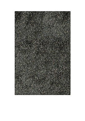 Luster Shag Solid Carbon Area Rug 3 x 5