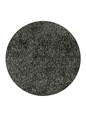 Luster Shag Solid Carbon Area Rug 4 Round
