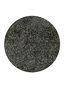 Luster Shag Solid Carbon Area Rug