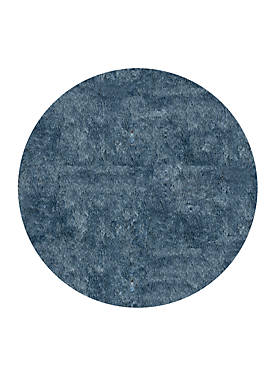 Luster Shag Solid Light Blue Area Rug 4 Round