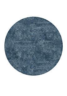 Momeni Luster Shag Solid Light Blue Area Rug 4' Round