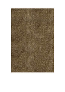 Luster Shag Solid Light Taupe Area Rug 5' x 7'