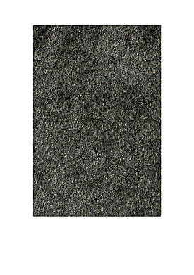 Luster Shag Solid Carbon Area Rug 5 x 7