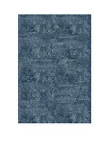 Luster Shag Solid Light Blue Area Rug 5' x 7'