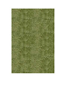 Luster Shag Solid Apple Green Area Rug
