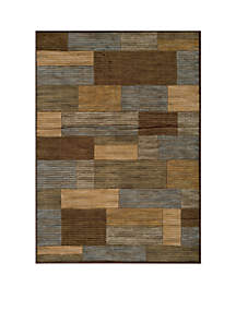 Dream Rectangles Brown Area Rug 3'11\