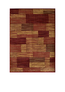 Dream Rectangles Red Area Rug
