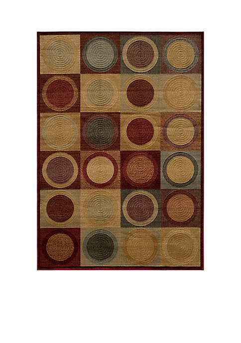 """Dream Circles Red Area Rug 311"""" x 57"""""""