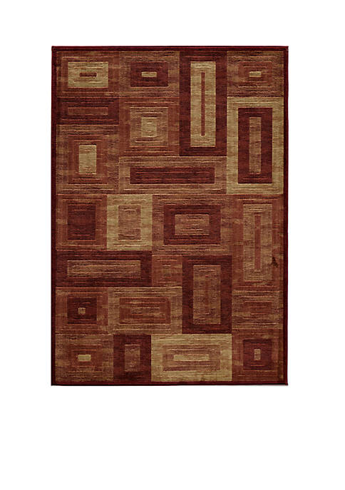 "Momeni Dream Global Red Area Rug 23"" x"