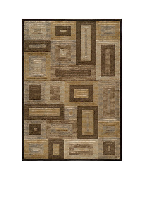 "Dream Frames Brown Area Rug 23"" x 76"""