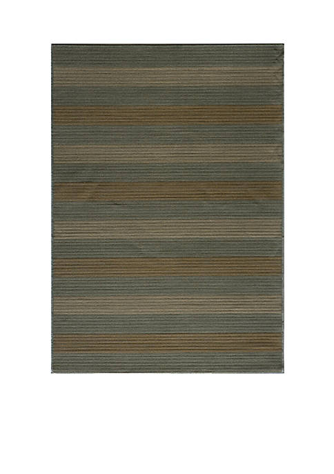 "Momeni Dream Bamboo Blue Area Rug 23"" x"