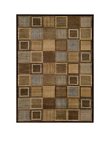 Dream Squares Brown Area Rug