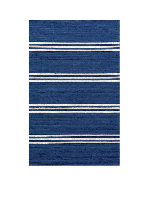 """Momeni Veranda Stripes Maritime Blue Rug 3 9"""""""