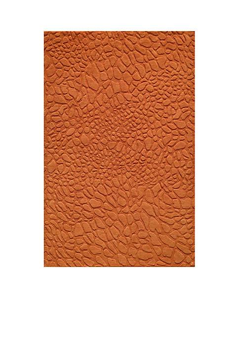 Gramercy Pebbles Tangerine Area Rug 2 x 3