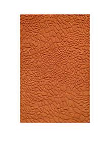 Gramercy Pebbles Tangerine Area Rug 2' x 3'