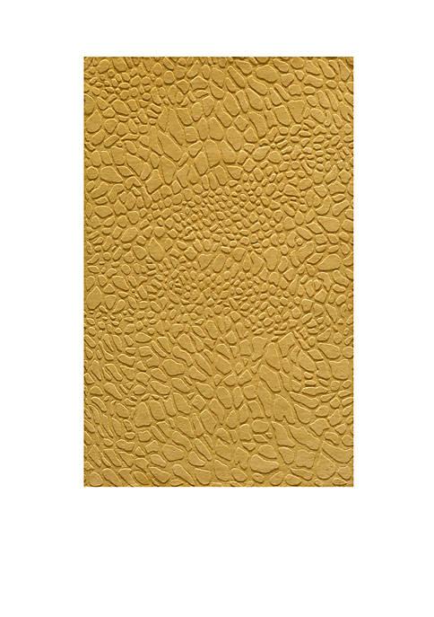 Gramercy Pebbles Gold Area Rug 2 x 3