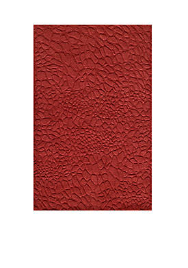 """Gramercy Pebbles Red Area Rug 26"""" x 8"""
