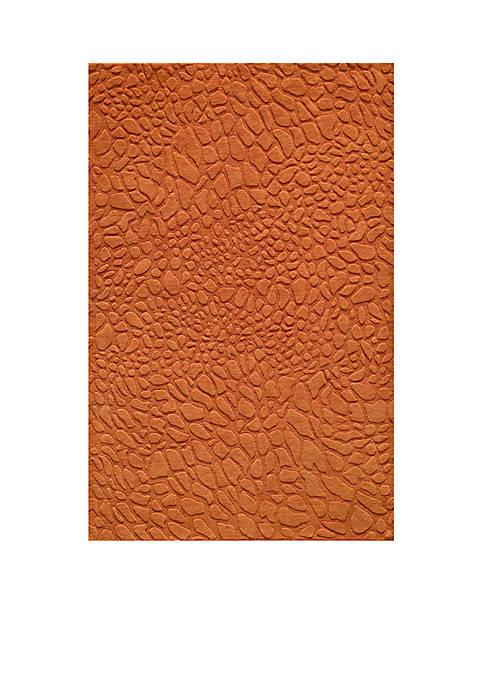 "Momeni Gramercy Pebbles Tangerine Area Rug 26"" x"
