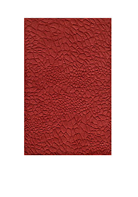 """Gramercy Pebbles Red Area Rug 36"""" x 56"""""""