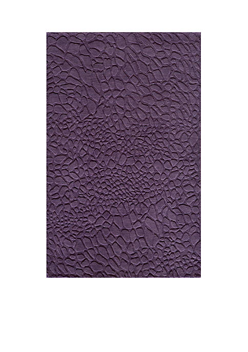 "Momeni Gramercy Pebbles Purple Area Rug 36"" x"