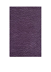 Gramercy Pebbles Purple Area Rug 3'6\