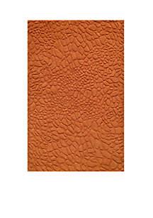 Gramercy Pebbles Tangerine Area Rug 3'6\