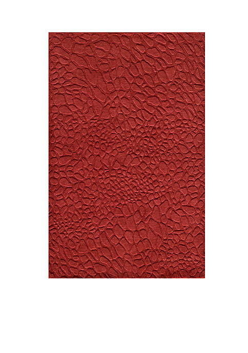 Momeni Gramercy Pebbles Red Area Rug 5 x