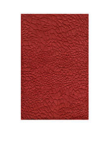 Gramercy Pebbles Red Area Rug 5' x 8'