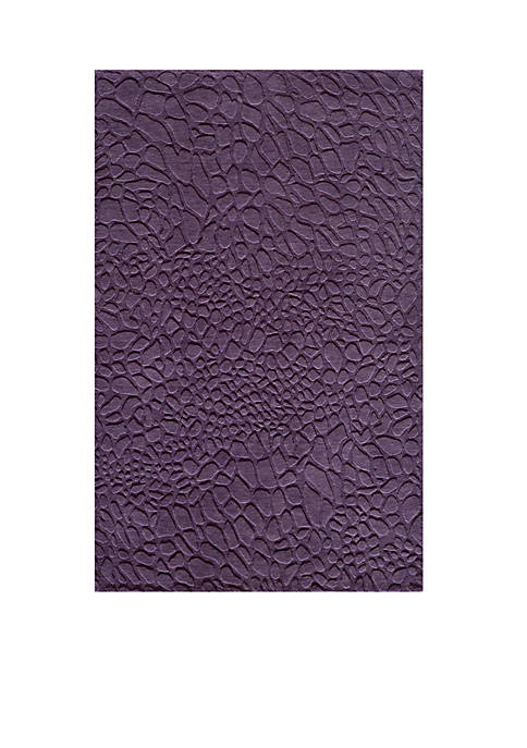Momeni Gramercy Pebbles Purple Area Rug 5 x