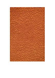 Gramercy Pebbles Tangerine Area Rug 5' x 8'